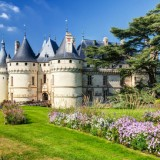 Chateau de Chaumont-sur-Loire, France. This castle is located in the Loire Valley, was founded in the 10th century and was rebuilt in the 15th century.